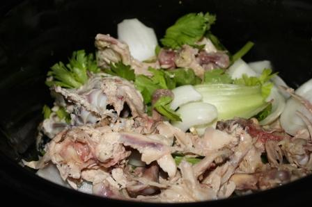 Bones + Veggies in Crockpot