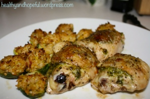 Pesto Chicken and Brussel Sprouts