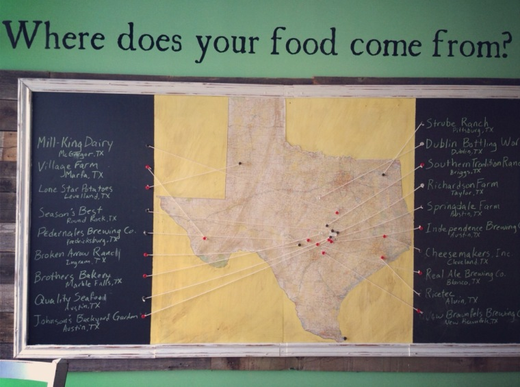 Map of Locally Sourced Ingredients @ Greenhouse Craft Food
