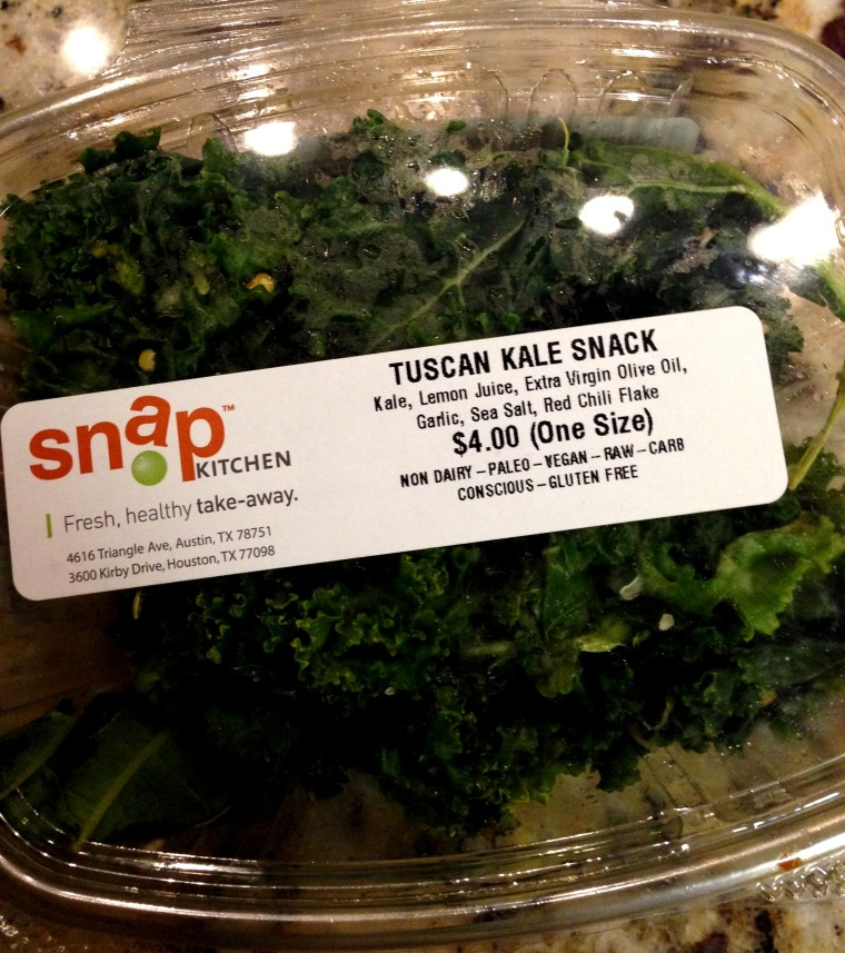 This is what my husband picked when we visited... I wish I had quite his love for kale!