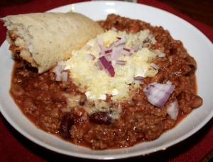 Chili with Tamale